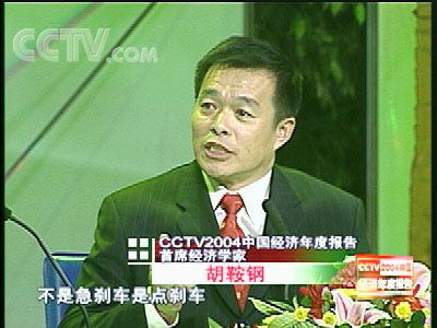 胡鞍钢教授做客央视 盘点2004中国经济